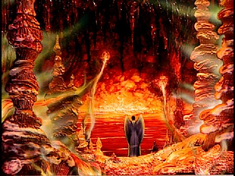 "A picture of hell from the video ""The Light of the World."" by Jack Chick"