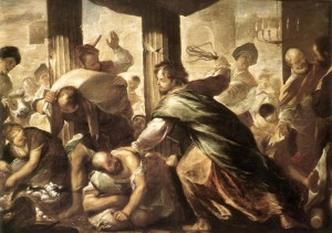 Jesus Cleansing the Temple Luca Giordano (1634, 1705)